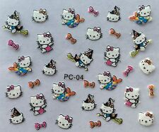 Nail Art 3D Decal Stickers Hello Kitty Valentine's Day Halloween Bows PC04 XF319