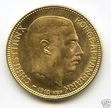DANEMARK CHRISTIAN X (1912-1947) 20 KRONER OR GOLD 1914 !!!!