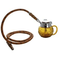 "5"" MYA Coppa 1 Hose Mini Hookah Pipe Set Amber"