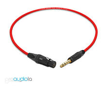Canare Quad Cable L-4E6S | Neutrik Gold XLR-F to TRS | Red 1 Feet | 1 Ft. | 1'