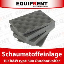 SI Schaumstoff / Einlage / Einsatz für B&W type 500 Koffer (EQV05)