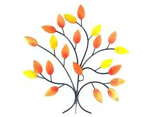 Contemporary Metal Wall Art Decor Picture -Autumn Leaves on Branch
