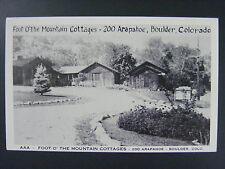 Boulder Colorado CO Foot O' The Mountain Coattages Postcard 1960s Vintage