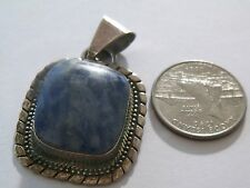 VNTG A.T.I. MEXICAN STERLING SILVER SLIDER/PENDANT BLUE STONE*NO RESERVE