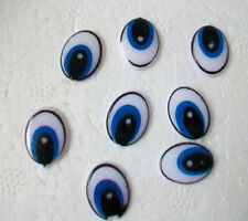 100Pc Blue Plastic Oval Eye Stick Cartoon Clay Animal DOLL TOY Fingd DIY 11X15MM
