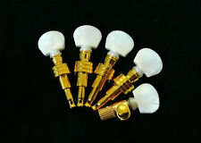 5 string banjo geared machine heads-pearl white acrylic buttons 5pcs 328G-BW
