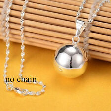 Jingle Bell Silver Round Bell Ringing Pendant For Chain Necklace