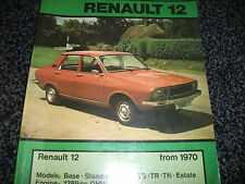 RENAULT 12 FROM 1970 1289CC OHV CAR REPAIR MANUAL AUTODATA