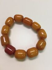 FINE Chinese antique real amber bracelet for men