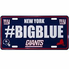 NFL New York Giants Hashtag License Plate
