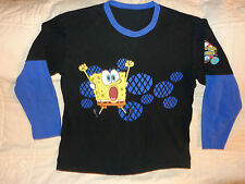 SpongeBob SquarePants Nickelodeon Black Men's T-Shirt  Size L, EUC