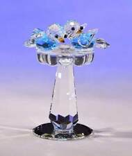 New Crystal World  Baby Birds Bath Miniature Figurine