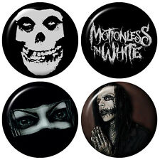 MOTIONLESS IN WHITE Badges Collection  2.5 cm 1 inch Button set lot HandCrafted