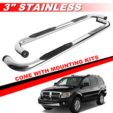 "3"" Round S/S Nerf Bars Side Steps Running Boards For 04-10 DODGE DURANGO 4 DOOR"