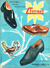 PUBLICITE ADVERTISING  026  1958  Clerget chaussures homme par M. ginget
