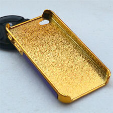 Purple Gold Color Fashion Plastic Skin Case Cover Protector For iPhone 4S 4
