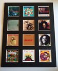 """BOB MARLEY 14"""" BY 11"""" LP DISCOGRAPHY COVERS PICTURE MOUNTED READY TO FRAME"""