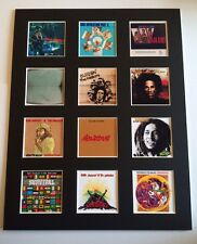 "BOB MARLEY 14"" BY 11"" LP DISCOGRAPHY COVERS PICTURE MOUNTED READY TO FRAME"