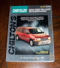BOOK Chilton Repair Manual: Chrysler Caravan Voyager Town Country 1984-1995 Mini