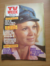 TV Week Mag Apr 1975. Angie Dickinson, John Farnham, Lee Majors, Farrah Fawcett