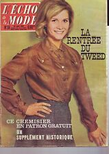 l'echo de la mode numero 34 - aout 1962 / le tweed  -