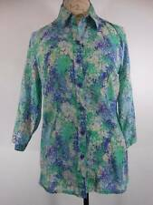 Beautiful Women's Small Coldwater Creek Splashes of Paint Long Sleeve Blouse GUC