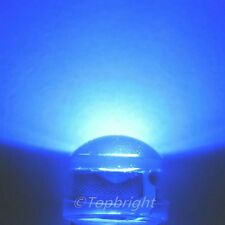 5 PCs HP 1W 8mm 140° StrawHat 450nm BLUE LED 140,000mcd