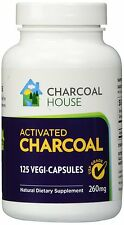 USP Activated Charcoal Capsules 125 count Bottle - Vegetarian, Gluten Free