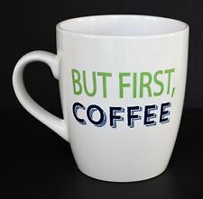 But First Coffee Jumbo Extra Large Wide Mouth Coffee Cup Mug White 24 Ounce