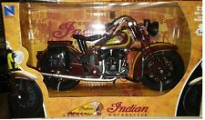 1934 Indian Sport Scout Motorcycle Die-cast 1:12 New Ray 5 inch 42113