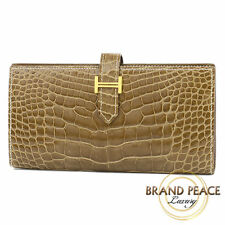 Beansfle Hermes Croc alligator ficelle gold hardware R stamped Free Shipping