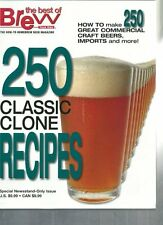 Brew Your Own - 250 Classic Clone Recipes Homebrewing Book Beer Making Recipes