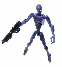 "STAR WARS Clone Wars BLUE ASSASSIN DROID 3.75"" toy action figure"