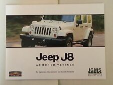 Jeep J8 Armor Vehicle / JGMS Jeep  Security Force, Diplomatic Catalog Booklet