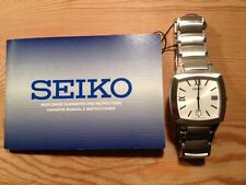 Nuevo - Reloj Watch Montre SEIKO - Square Cuadrado - Quartz - Steel Acero - New