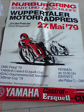 Nürburgring  Poster Plakat Wuppertaler Motorradpreis  1979 OMK Pokal