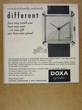 1958 DOXA Grafic Watch photo vintage print Ad