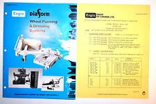 ENGIS DIAFORM WHEEL FORMING & DRESSING SYSTEMS CATALOG No.D-103 1982 #RR814