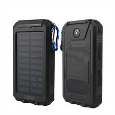 50000mAh Waterproof 2 USB LED Solar Power Bank Battery Charger For Smartphone