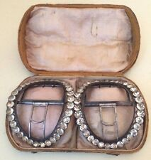 18TH C GEORGIAN CASED SILVER PASTE PAIR SHOE BUCKLES IN BOX (1 of 2)