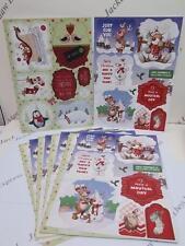 10 x A4 Debbi Moore Christmas Reindeer Die Cut & Sentiments Card Toppers AM744
