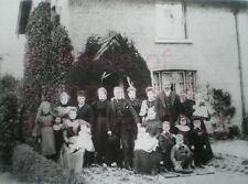 PRINT 10 X 7  GROUP OF PEOPLE OUTSIDE FLINT COTTAGE BURGHFIELD COMMON BERKSHIRE