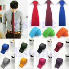 Fashion Mens Solid Casual Tie Knit Knitted Tie Necktie Narrow Slim Skinny Woven