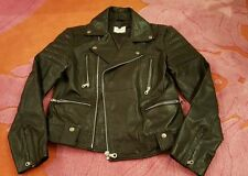 NWOT TOPMAN 100% REAL BLACK LEATHER JACKET Mens Small NEW Biker Rare Cool Moto