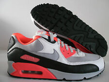 NIKE AIR MAX 90 iD WHITE-GREY-BLACK-INFRARED SZ 10 [455686-995]