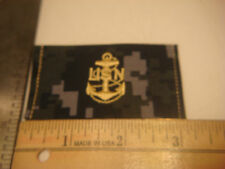NEW NIP VANGUARD US Navy CAP PATCH DEVICE BLUE Digital NWU E-7 CPO SHADOW BOX