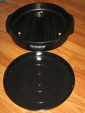 NUWAVE PRO PLUS INFRARED OVEN BLACK REPLACEMENT PART BOTTOM BASE TRAY & PAN SET