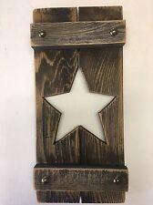 """Barn Wood Star Cut-Out 12"""" Cedar Fence Boards Rustic Western Ranch Wall Decor"""