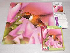 Audubon Buffalo Games Rufous Hummingbird Flowers Jigsaw Puzzle 500 Pieces 18x18