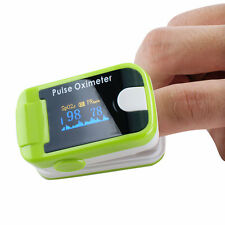 Pulse Oximeter+Alarm OLED Oximetery blood oxygen Monitor Hand-hold Green CE 2017